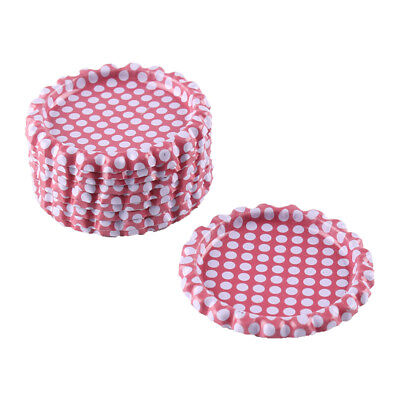 """10pcs Pink Dots Flat Double Sided Colored 1"""" Bottle Caps Hair Bow DIY Crafts"""