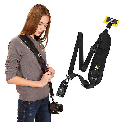Black Camera Belt Single Neck Shoulder Strap Sling for DSLR Sony Canon Nikon New