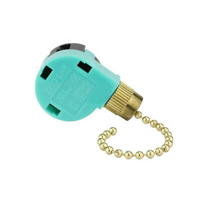 ZE-268S6 3 Speeds 4-Wire Ceiling Fan Switch Wall Light Pull Chain Control HOT!