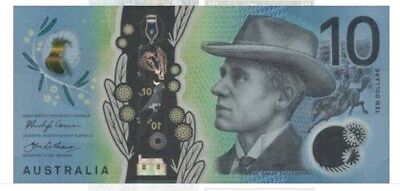 💫2x Rare UNC AUSTRALIA New $10 Dollars Early AF Prefix 2017 Banknotes Collect