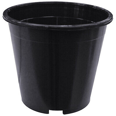 Hydroponic Round Strong Plastic Plant Pots Small Tall Deep Full Flower Garden UK