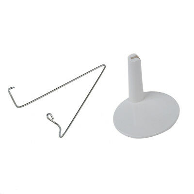 1X(White Adjustable Dollstand 3.3 - 4.3 inches Y1C7)