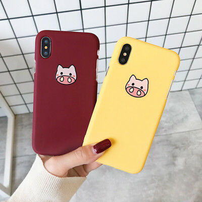 Cute Cartoon Pattern Ultra Thin Slim Hard PC Case for iPhone XS Max XR 678 Cover