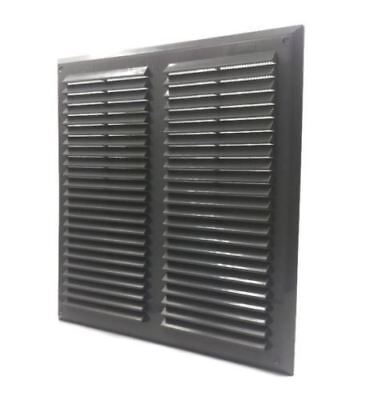 Graphite Air Vent Grille 350mm x 350mm with Fly Screen Ventilation Cover 14""