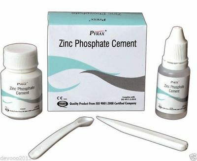 Dental Zinc Phosphate Cement Permanent Tooth Filling Fixation kit by PYRAX