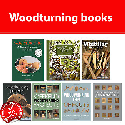 Woodturning Projects, Whittling Handbook, Woodland Craft , Woodworking books NEW