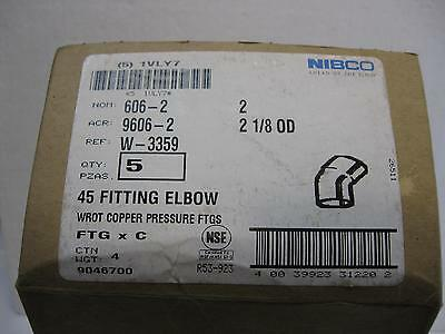 "2"" Copper 45 Degree Elbows, FTGxC 45,Copper Sweat 45 Degree Elbow lot of 5"