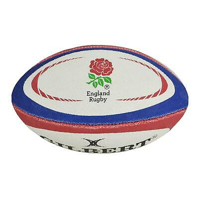 Gilbert Gilbert Mini England Replica Rugby Ball White, Blue and Red