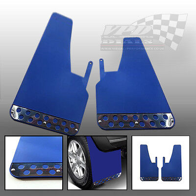 Mudflaps/Mud Flaps Blue Race/Racing Rally Car Performance Universal pair custom