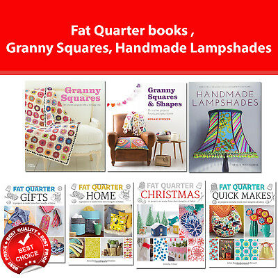Fat Quarter Projects books, Granny Squares and Shapes, Handmade Lampshades NEW
