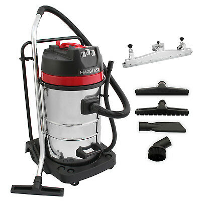 MaxBlast 80L Industrial Vacuum Cleaner & Floor Track Nozzle Wet Dry Commercial