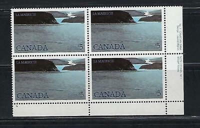 "Canada stamps $5 ""La Mauricie"" Scott #1084 plate block MNH."