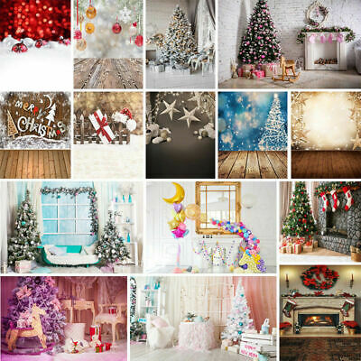 Merry Christmas Baby Birthday Photography Backdrop Kids Photo Prop Background US