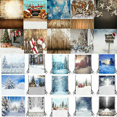 XMAS Photo Backdrops Christmas Tree Snowy Forest Photography Background Props