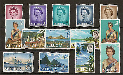 St Lucia 1964 To $2.50 Sg197/210 Mnh