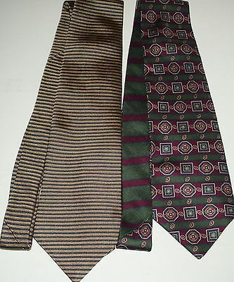 "Lot of 2 Mens Tommy Hilfiger Italian Silk Ties Length 59"" to 63"" Width 3 3/4"""
