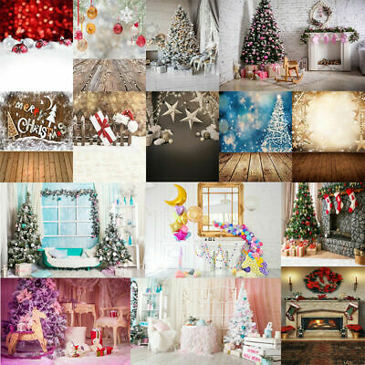 Happy Christmas Xmas Kids Birthday Party Photography Backdrops Background Prop