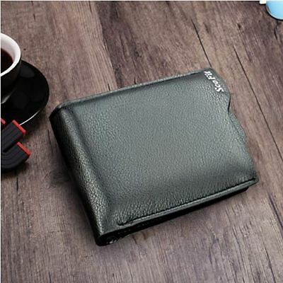Mens Leather RFID Blocking Bifold Wallet w/ Removable ID & Zipper Coin Purse