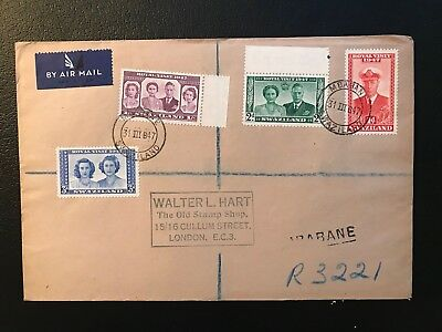 1947 Swaziland Royal Visit Air Mail Cover - ref182