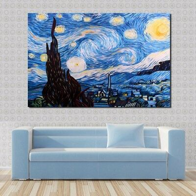 Abstract Village Sky Modern Art Oil Painting Picture Print Wall Decor Unframed
