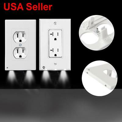LED Night Angel Wall Outlet Cover Plate Hallway Bathroom Bedroom Kid Night Light