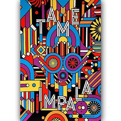 """Tame Impala Psychedelic Rock Music Band 14x21 24x36"""" Poster Fabric Art 572"""