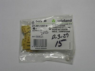 15 new Wieland Terminal block jumpers Z7.261.1227.0 2 pole IVB WKF 4-2