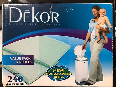 2 Pack Dekor Diaper Disposal System Value Pack 2 Refills. Total 4 Refills. B005