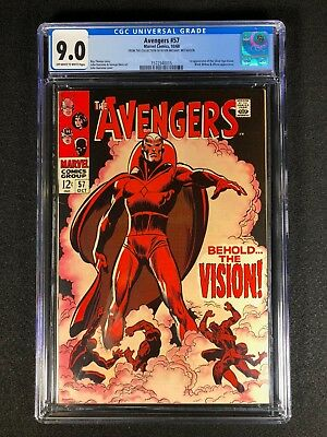 Avengers #57 CGC 9.0 (1968) - 1st app of the Silver Age Vision