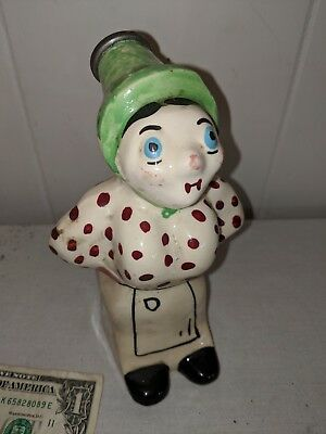 Rare Vintage Ceramic Woman Laundry Clothes Water Sprinkler Bottle