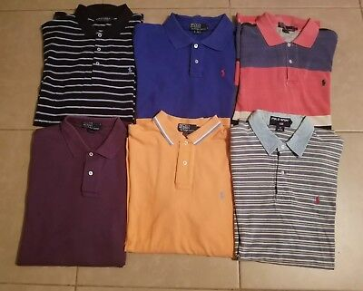 Lot of 6 Polo by Ralph Lauren Men's Polo Shirts Short Sleeve in size L
