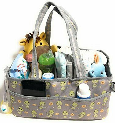 Baby Diaper Caddy Storage Organizer - Perfect Size for Car Travel, Changing Tabl