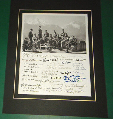 Band of Brothers Easy Company Eagle's Nest, Germany 1945 22 Reprint Signatures