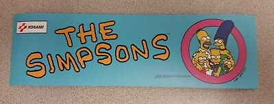 The Simpsons arcade marquee sticker. 3 x 10. (Buy 3 stickers, GET ONE FREE!)