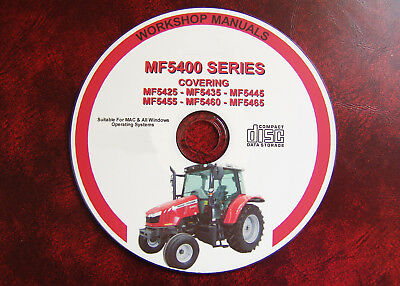 Massey Ferguson Mf 5425 5435 5445 5455 5460 5465 Workshop Service Repair Manual