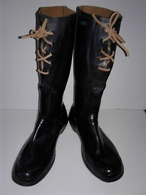 WW II US Army M1937 men's knee boots size 11 wide