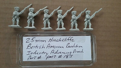 25mm Hinchcliffe American Revolution  British Infantry advancing Primed