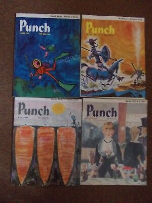 "VINTAGE 4 X ""PUNCH"" MAGAZINES.JUNE 5th, 12th, JULY 3rd, 31st 1963"