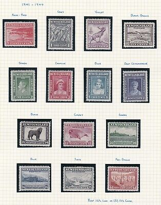 Commonwealth. Canada. Newfoundland. 1937-47 selection.  TWO PAGES Mint