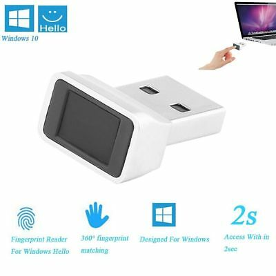 USB Biometric Fingerprint Reader Password Lock Security Touch ID for Laptop PC