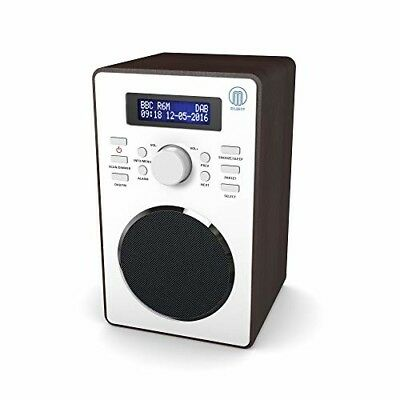 Majority Barton II Retro DAB/DAB+ Digital FM Upright Radio/Alarm Clock/Wood Effe