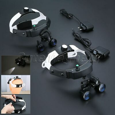 Dental 2.5X/3.5X Surgical Binocular Loupes Magnifier Glasses LED Head Light