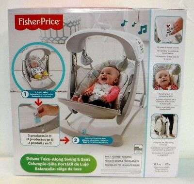 Fisher-Price CJV03 Deluxe Take Along Swing and Seat 5636 *
