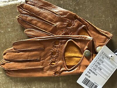 Leather Driving Gloves Urban Outfitters NEW Deena & Ozzy Caramel Brown S/M GIFT