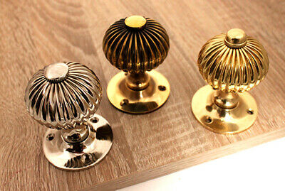 Period Style Antique Regency Reeded Round Door Mortice Knob Various Finishes