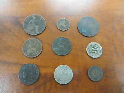 Old Foreign Coin Lot 1800's!!! England Germany Netherlands Spain...!!!