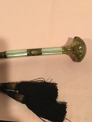 Antique Parasol Umbrella With Mother of Pearl Gold Filled Handle