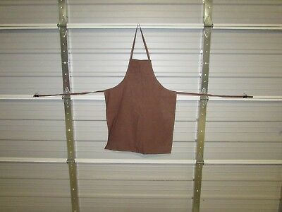 "NEW HEAVY DUTY COTTON WORK APRON, 33"" x 25"", CHOCOLATE (OO)"