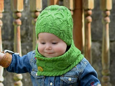 78b82e32061 KNITTING PATTERN - Rainforest Hat and Cowl (Baby