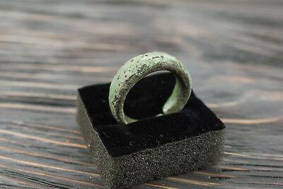 Prehistoric, Bronze Age Bronze Finger Ring c. 2000-1200 BC Celtic Ring Authentic
